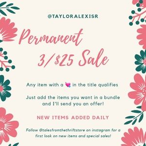 Sale 3/$25